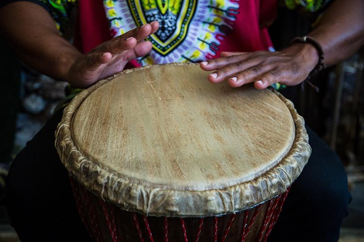 Drummer Afro-Cuban Ensemble in Concert