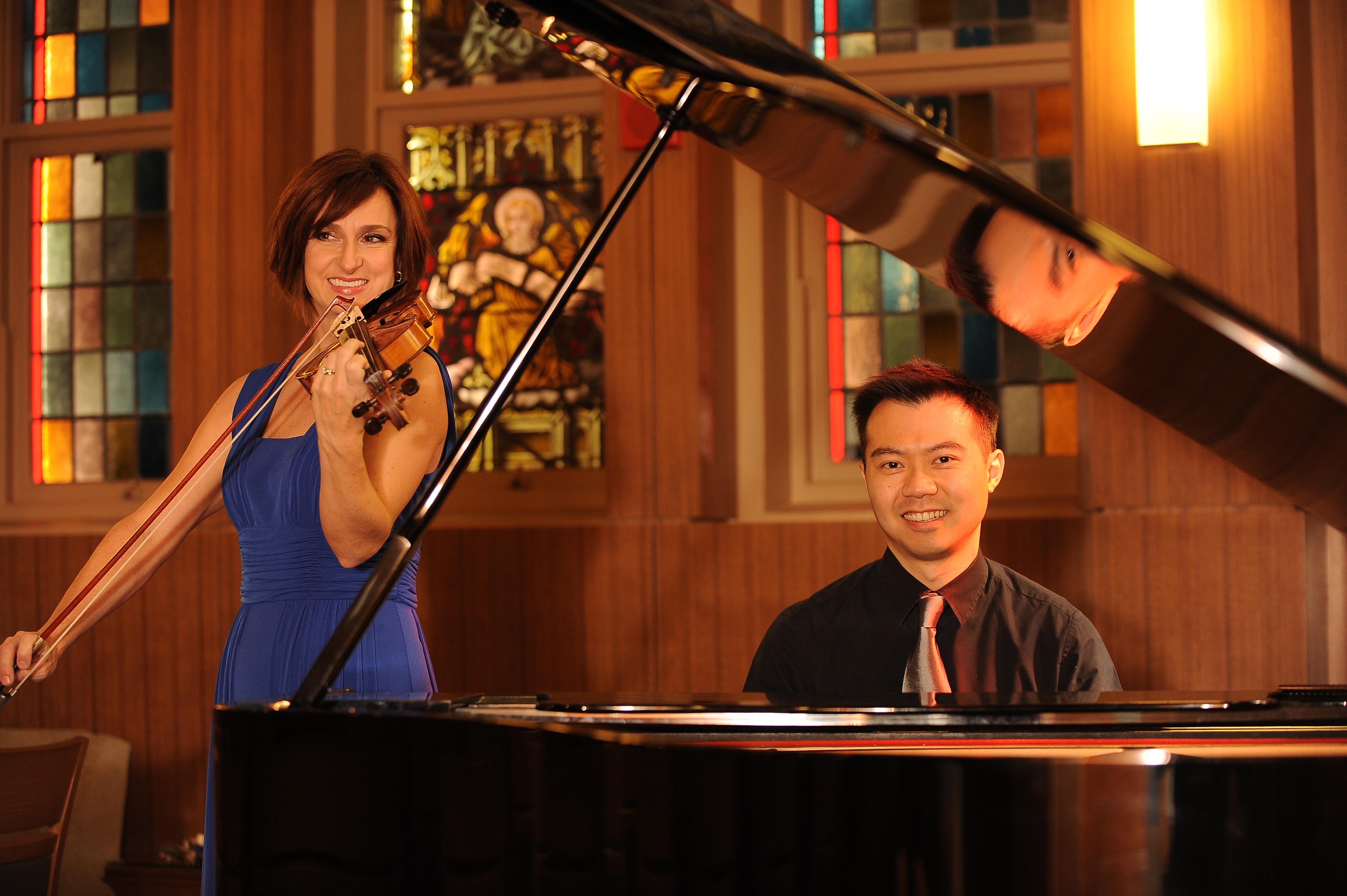 Amy Thiaville, violin, and Brian Hsu, piano
