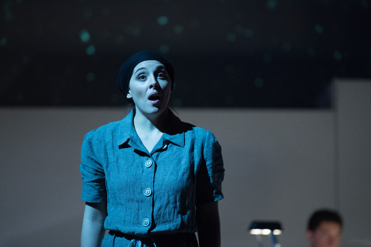 """Performer from Loyola's production of """"After Life"""""""