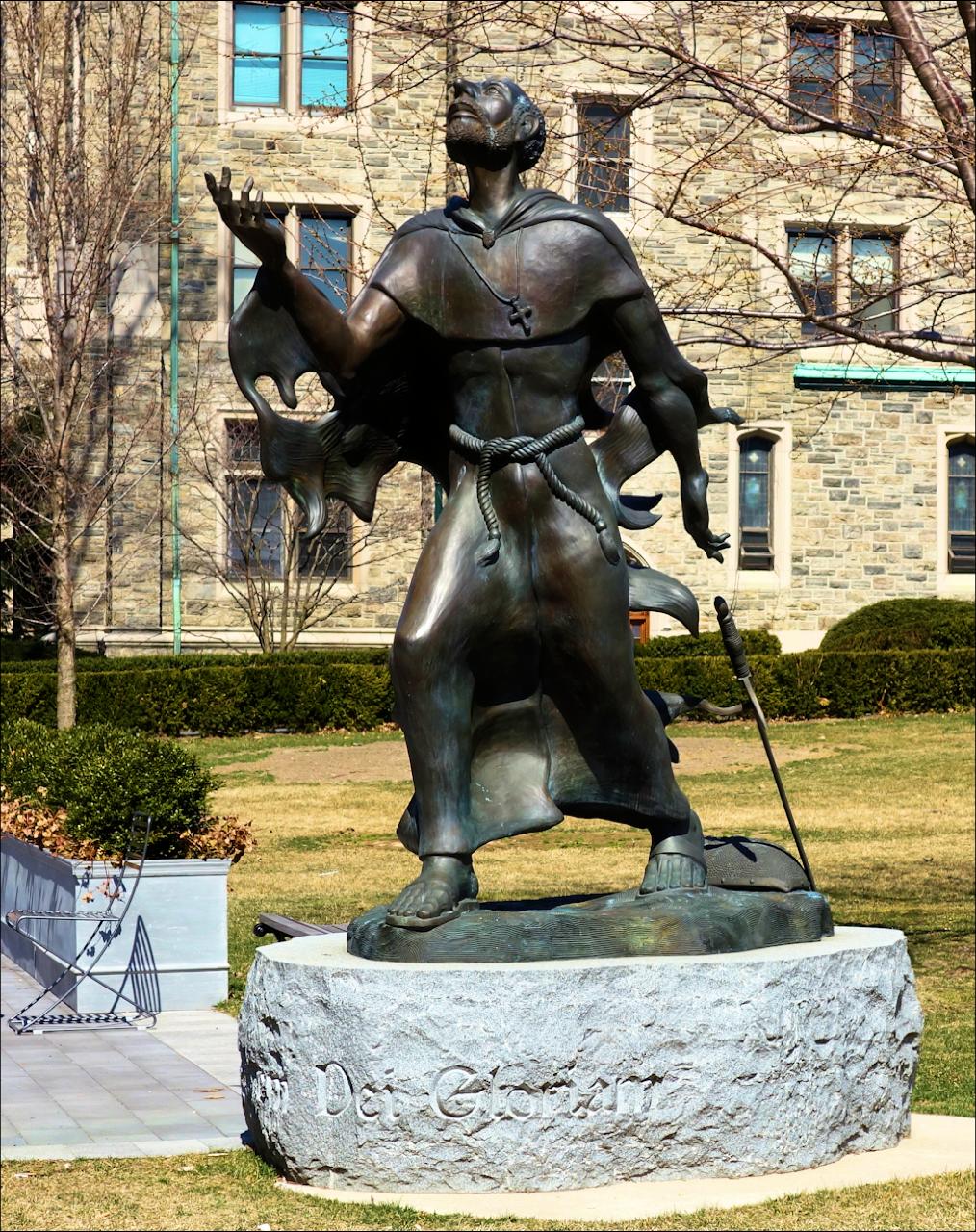 Statue of St. Ignatius at Fordham University
