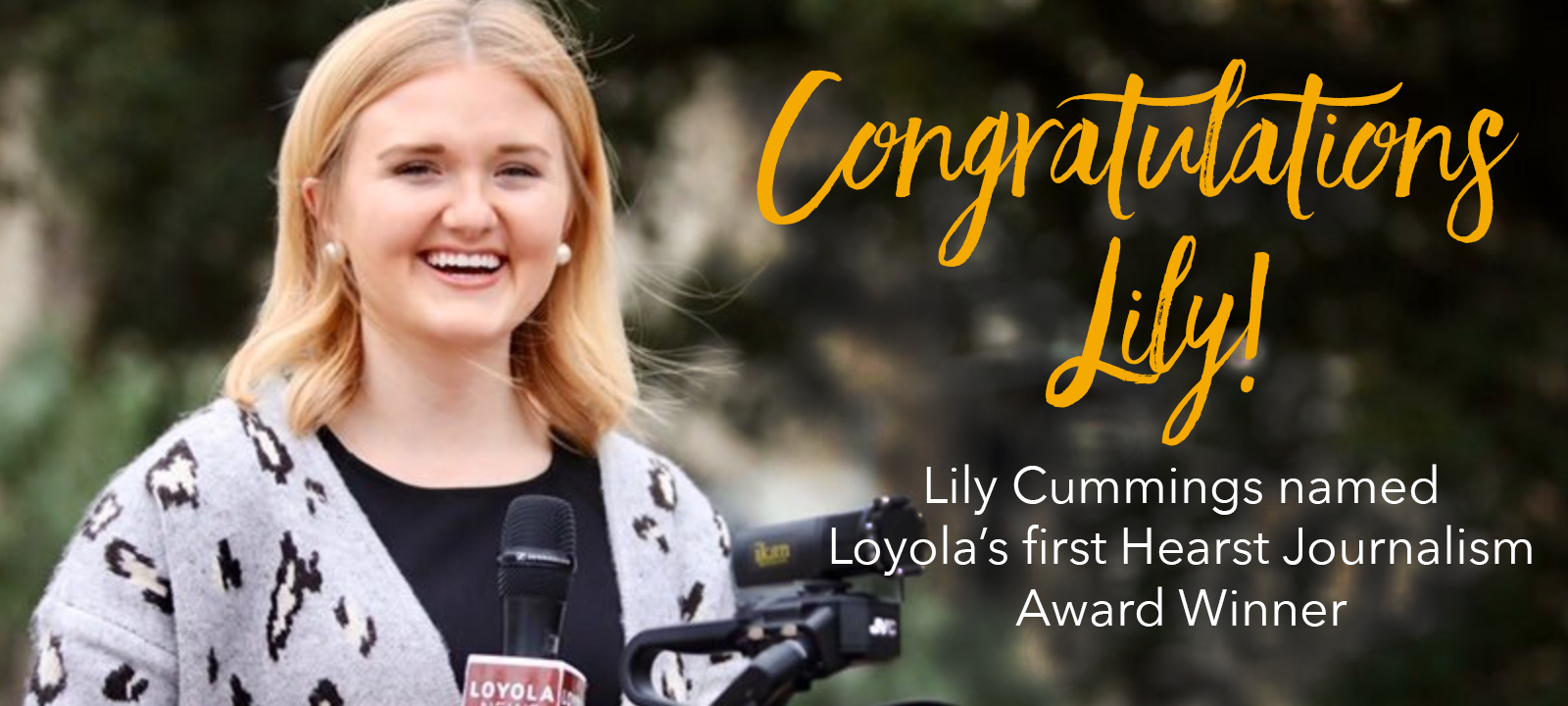 Loyola Senior Wins Elite Hearst Television News Award