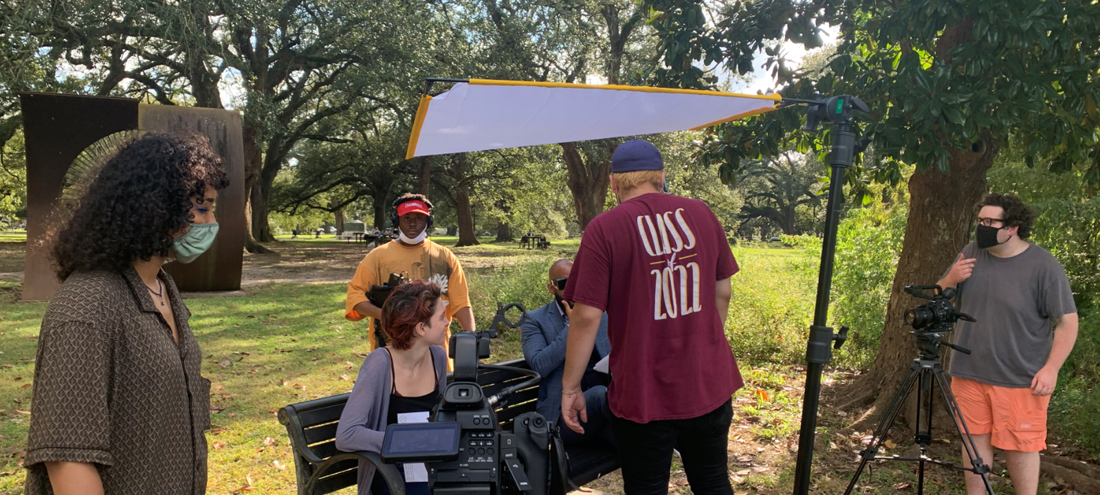 During COVID, Loyola students learned and implemented a subset of SAG and IATSE safety standards and produced films safely with no outbreaks.