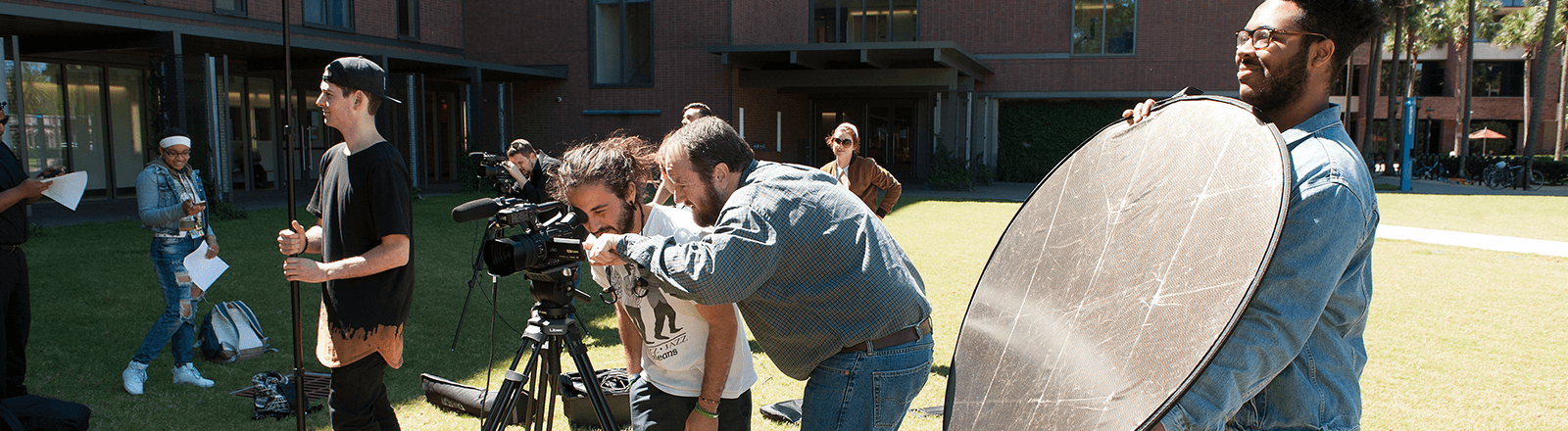 Students Filming Setup