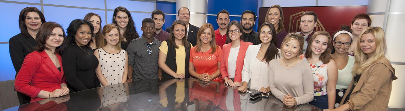 Group Photo in Broadcast Studio