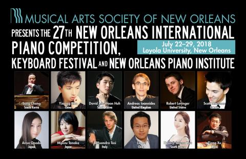 27th New Orleans International Piano Competition