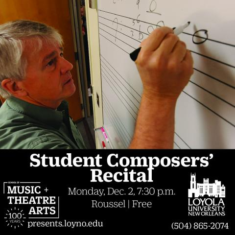 Student Composers' Recital Flyer
