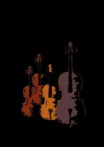 Illustration of four string instruments