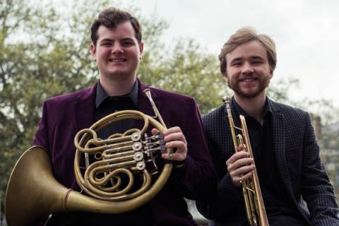Joey Troia, horn, and Michael Bauer, trumpet
