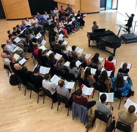 Seraphic Fire and PCI rehearsal with conductor, Xian Zhang