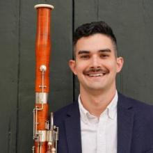 Jack Peña with bassoon